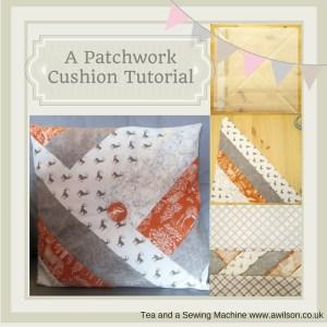 autumn patchwork cushion