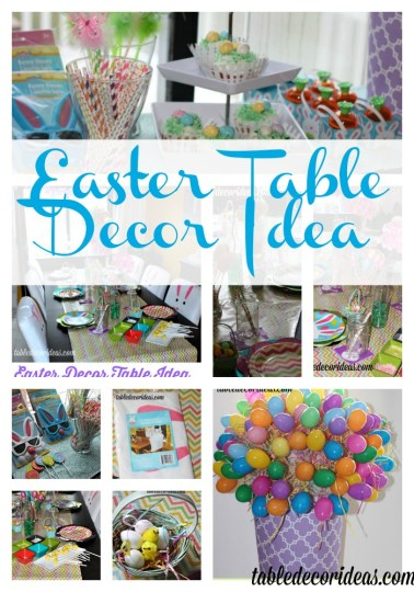 esater table decor idea collage