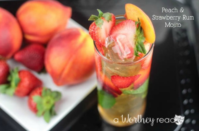 Peach & Strawberry Rum Mojito