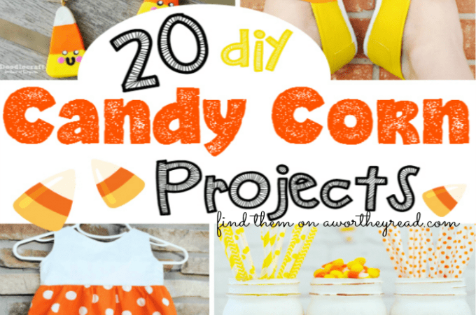 20 DIY Candy Corn Projects to try this Fall. Easy craft ideas for kids! 20 DIY Candy Corn Projects