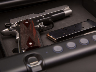 Handgun in Safe Box