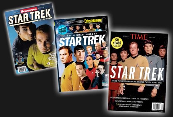 Trek Anniversary magazine covers