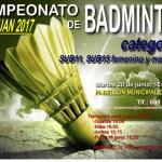 Cartel Torneo BADMINTON 2017