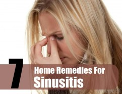 7 Home Remedies For Sinusitis
