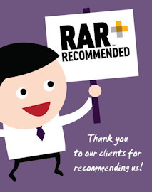 This week, thanks to the highly recommended ratings left by our clients, we officially became a RAR Recommended Agency