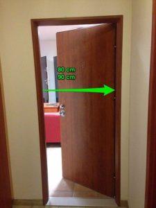 měření dveří