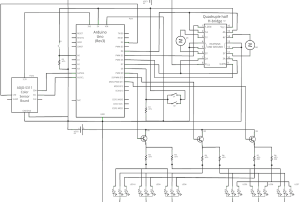 Wiring Diagram for Leon, made using the Open-Source program Fritzing.