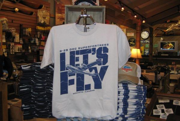 """Visit Doc's online store to get the latest B-29 Doc gear. The """"Let's Fly"""" t-shirt would be a perfect match for a new Doc hat!"""