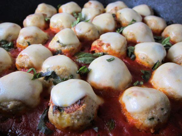 Cheesy Chicken Meatballs | Babaganosh