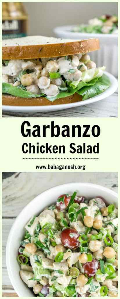 Make this easy Garbanzo Chicken Salad for a quick and healthy school lunch or after-school snack. Serve in a pita or on your favorite bread. This recipe will quickly become a family favorite! From http://www.babaganosh.org