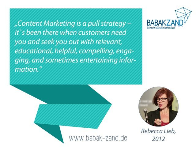 Zitat operatives Content-Marketing von Rebecca Lieb