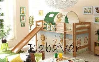 Csúszdás emeletes ágy 90×200 : Dzsungel