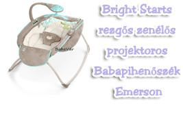 Bright Starts rezgős zenélős projektoros Babapihenőszék Emerson