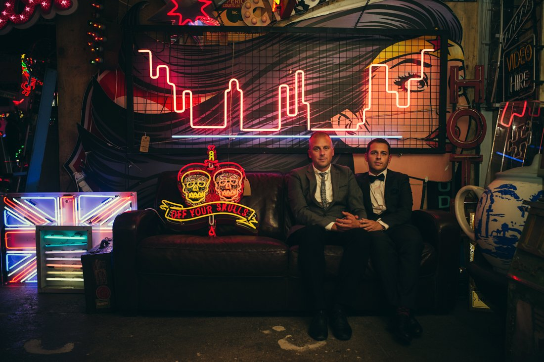 gods own junkard gay wedding photography neon-4