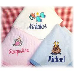 Sophisticated Personalized Cotton Baby Blanket A Single Name Personalized Cotton Baby Blankets Personalized Baby Gifts Walmart Personalized Baby Gifts Amazon