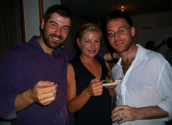 Getty photographer Chris Hondros, Marla Ruzicka and me in Baghdad last summer