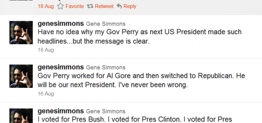 Gene Simmons endorses Rick Perry
