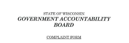 WI complaint form