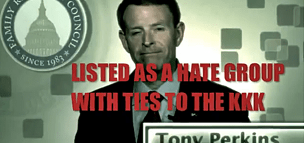 Tony Perkins KKK