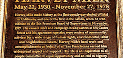 Harvey Milk Memorial Plaque