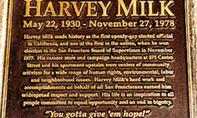 Harvey Milk Memorial Plaque