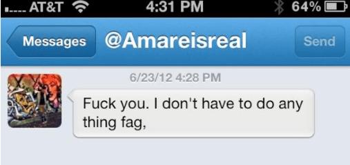 Amarassi Tweet