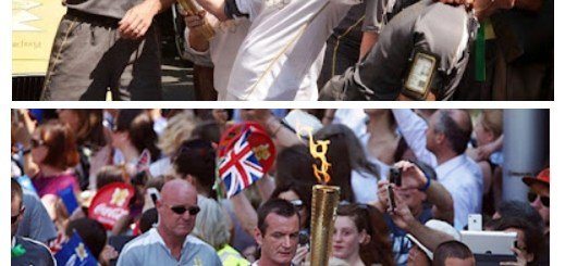 Patsy amnd Eds carry the Olympic Torch
