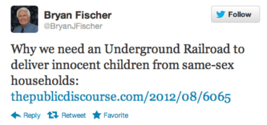 Bryan Fischer douce of the Day