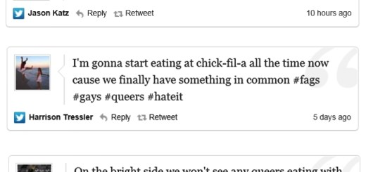 Chick-Fil-A customers anti-gay tweets