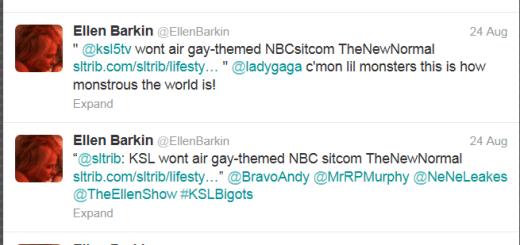 Ellen Barkin Slams SLC Twitter