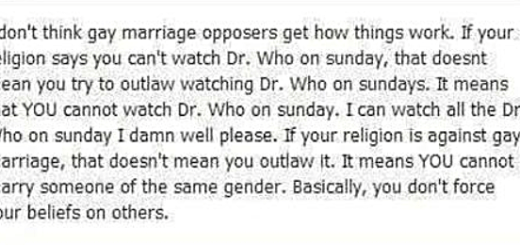 Dr Who Same Sex Marriage Argument
