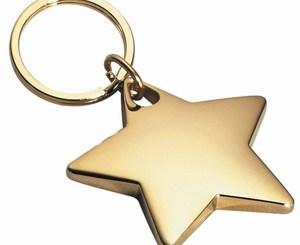 star-key-chain-gold