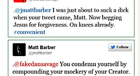 Dan Savage vs. Matt Barber