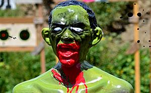 Barack Obama Zombie target
