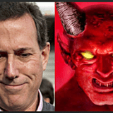 Rick Santorum Devil