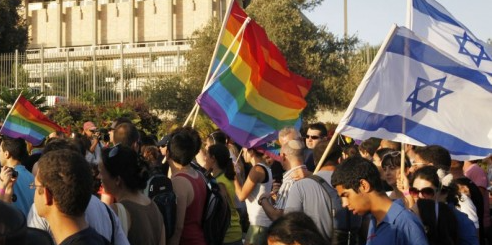 LGBT activist protest in Jeruselum