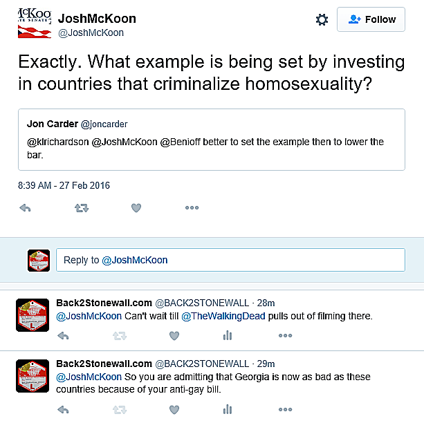 McKoon anti-gay