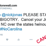 Nick Jonas cancels North Carolina concert