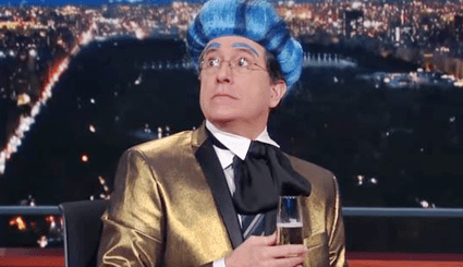 "Stephen Colbert Hijacks Republican National Convention Stage, Opens ""The National Hungry for Power Games"" - Video"