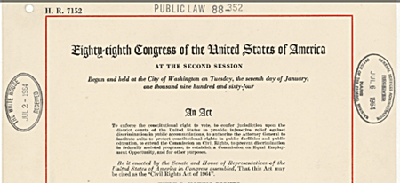 Federal Judge Rules That LGB Discrimination Violates Title VII of the 1964 Civil Rights Act