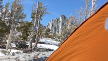 Prusik Peak viewed from my tent