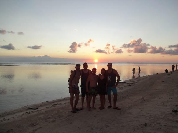Catching the sunset with some good friends (Gili T, Indonesia, 2016).