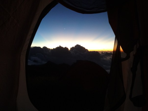Perfect view from my tent (indonesia, 2016).