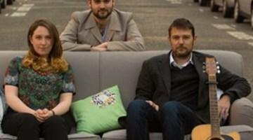 Left to right: Sarah Beattie Smith, Christopher Silver, David Greig. Image courtesy of  Traverse Theatre, Edinburgh