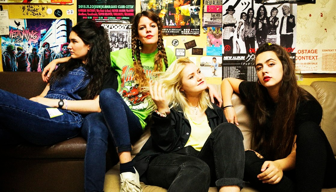 Promo image of Hinds band for release of Bamboo video