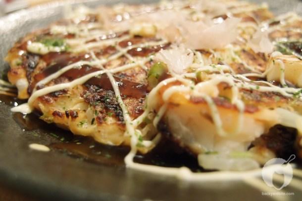 Okonomiyaki all dressed up