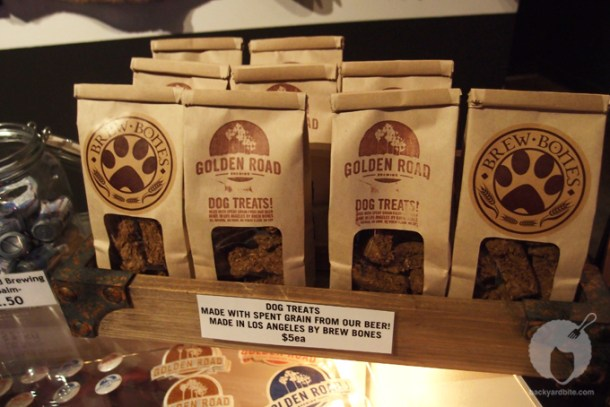 Doggie snacks at Golden Road Brewery