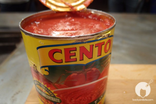 A can of tomato sauce
