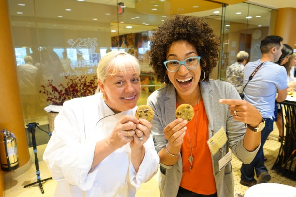Having a cookie moment with the super cool Sherry Yard!!