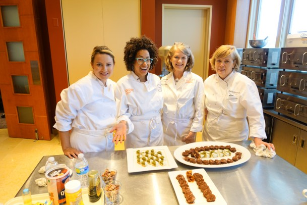 Our baking team and our finished desserts! (recipes to come soon)